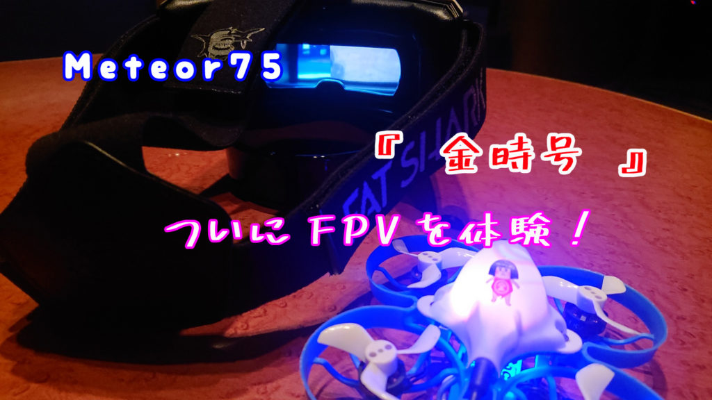 マイクロ・ドローン FPVで飛ばす!そして撮る!までの道のり その4  FPVゴーグル買ったのだ☆