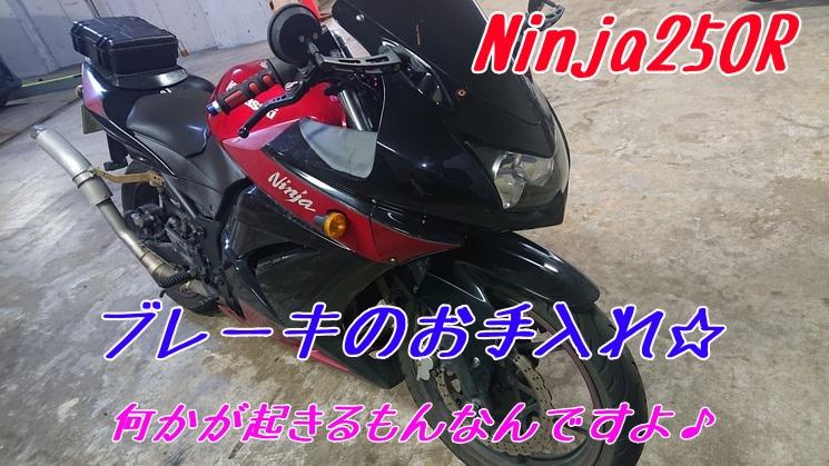 【Ninja250R】ブレーキパッドとディスクローターの交換だけのはずが!【ブレーキパッド交換】